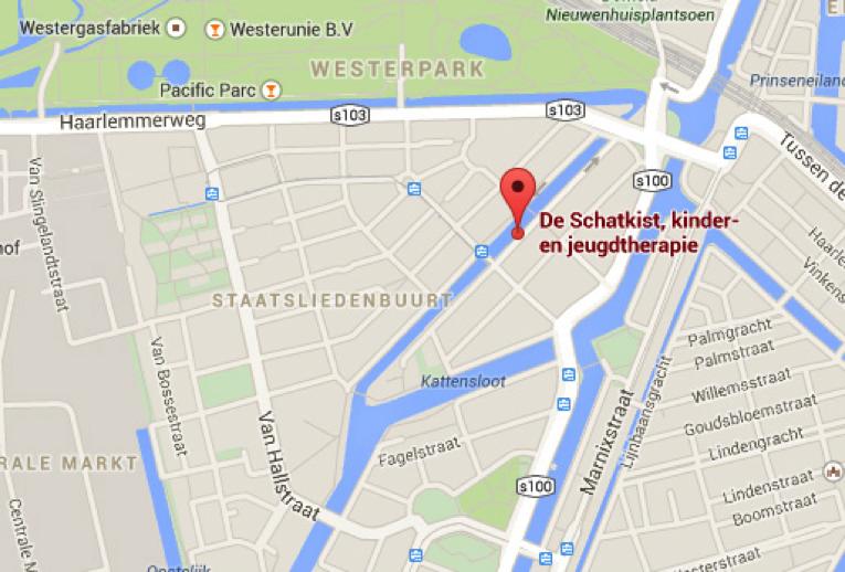 Locatie en routebeschrijving De Schatkist praktijk voor kindertherapie